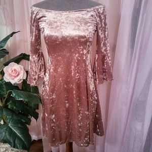 New Adorable Crushed Velvet Dress